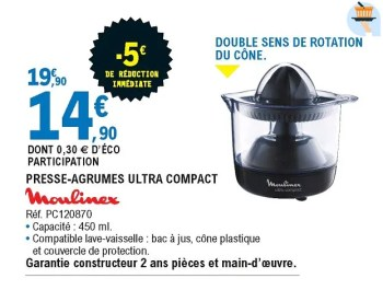 moulinex presse agrumes ultra compact pc120870