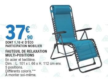 fauteuil de relaxation multi positions
