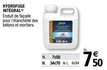 Bostik Hydrofuge Integral En Promotion Chez Brico Depot