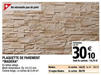 Produit Maison Brico Depot Plaquette De Parement Madera En Promotion Chez Brico Depot
