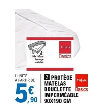 Tissaia Protege Matelas Bouclette Impermeable En Promotion Chez E Leclerc