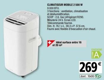 Goodhome Goodhome Climatiseur Mobile En Promotion Chez Brico Depot