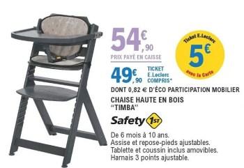 chaise haute en bois timba