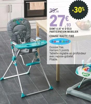 https www promobutler be fr e leclerc promotions promotion bambisol chez e leclerc chaise haute fixe chaises de bebe chaises bebe id 7517162
