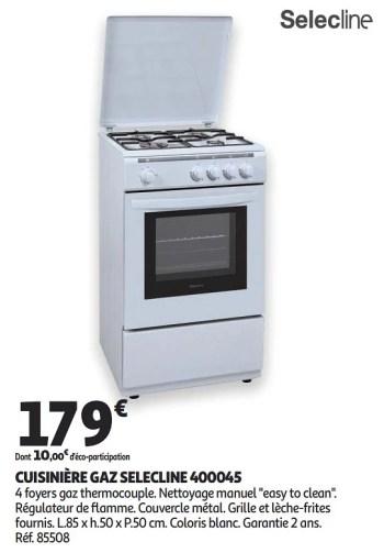Selecline Cuisiniere Gaz Selecline 400045 En Promotion Chez Auchan Ronq