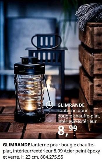 https www promobutler be fr ikea promotions promotion produit maison ikea chez ikea glimrande lanterne pour bougie chauffeplat interieur exterieur bougeoir chauffe plat decoration id 7855559