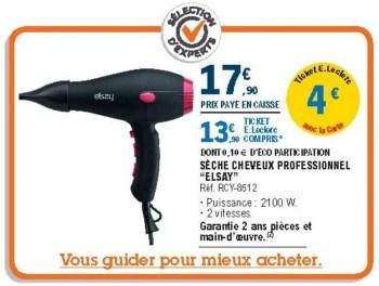 Promotion E Leclerc Seche Cheveux Professionnel Elsay Rcy 8512 Elsay Appareils Electriques Valide Jusqua 4 Promobutler