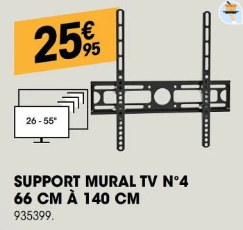 support mural tv n 4 66 cm a 140 cm