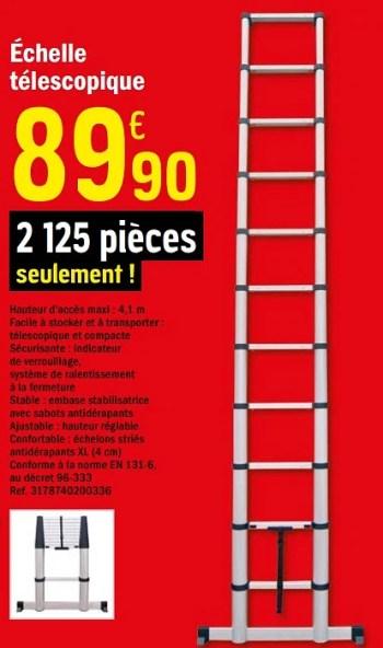 Produit Maison Brico Depot Echelle Telescopique En Promotion Chez Brico Depot