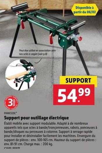 parkside support pour outillage electrique