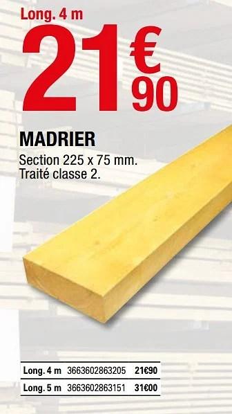Produit Maison Brico Depot Madrier En Promotion Chez Brico Depot