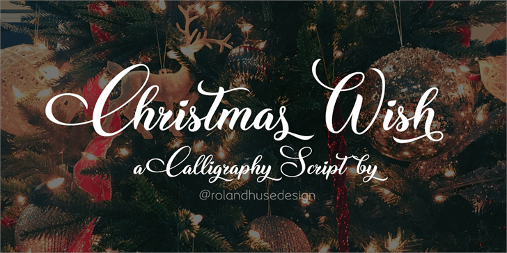 Christmas Wish Calligraphy Call Font text design