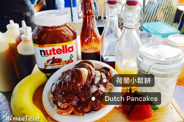 英國 倫敦市集 Camden Market 美食推薦。荷蘭小鬆餅搭上濃濃Nutella巧克力!