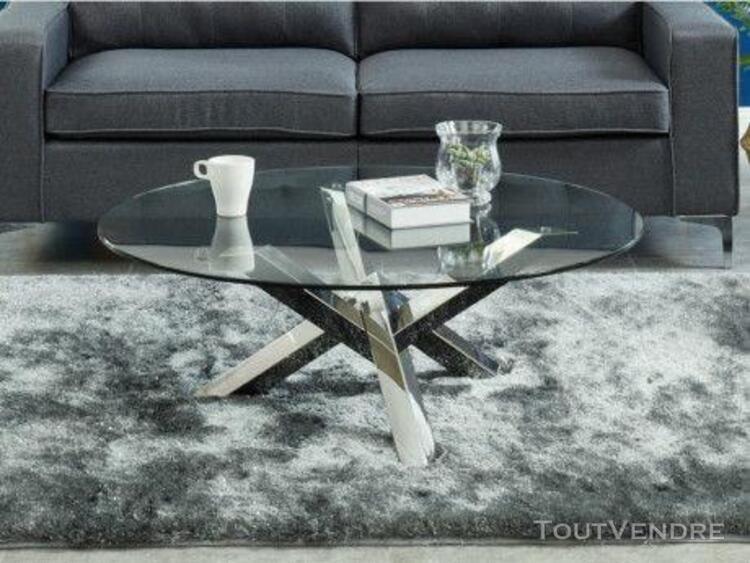 table ronde metal verre offres