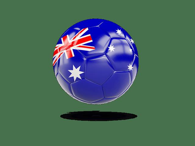 Glossy Soccer Ball. Illustration Of Flag Of Australia