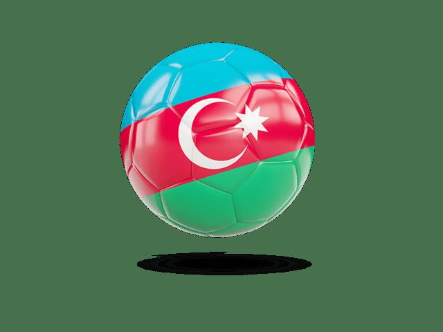 Glossy Soccer Ball. Illustration Of Flag Of Azerbaijan