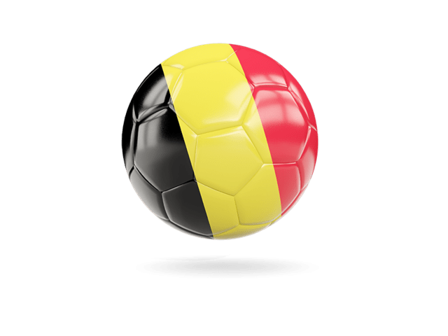Glossy Soccer Ball. Illustration Of Flag Of Belgium