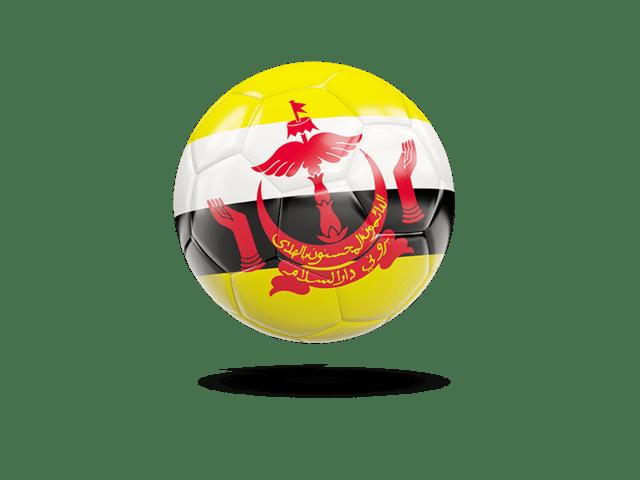 Glossy Soccer Ball. Illustration Of Flag Of Brunei