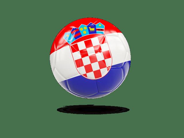 Glossy Soccer Ball. Illustration Of Flag Of Croatia