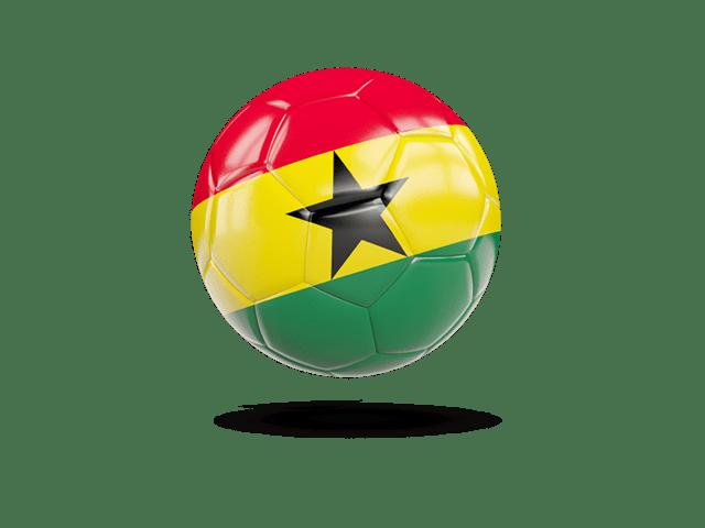 Glossy Soccer Ball. Illustration Of Flag Of Ghana
