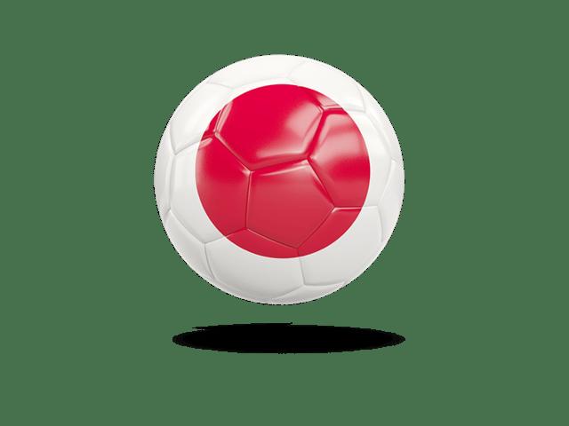 Glossy Soccer Ball. Illustration Of Flag Of Japan