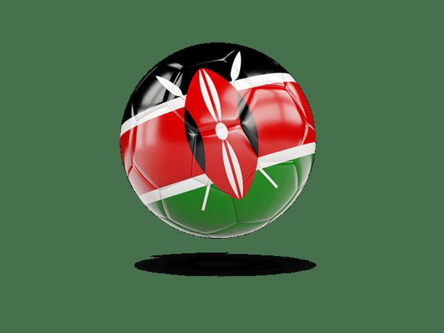 Glossy Soccer Ball. Illustration Of Flag Of Kenya