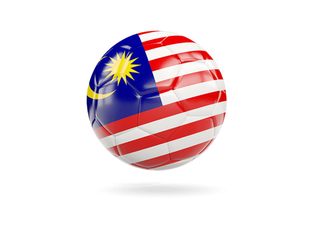 Glossy Soccer Ball. Illustration Of Flag Of Malaysia