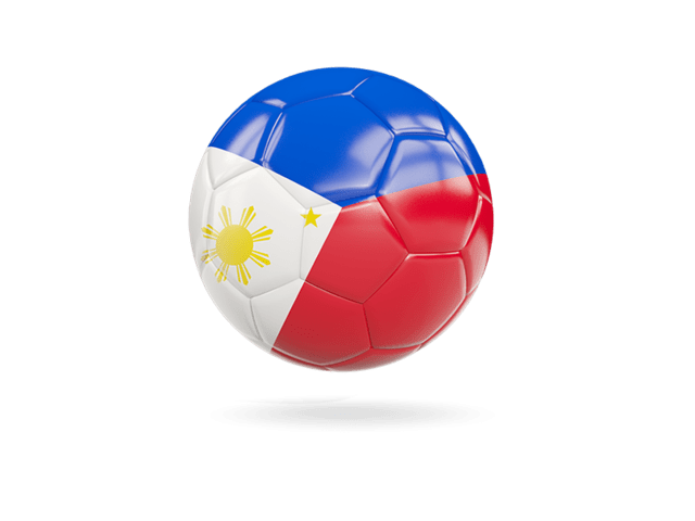 Glossy Soccer Ball. Illustration Of Flag Of Philippines