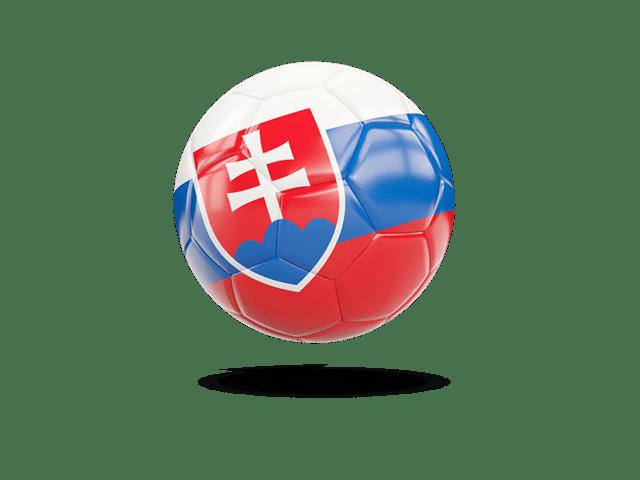 Glossy Soccer Ball. Illustration Of Flag Of Slovakia