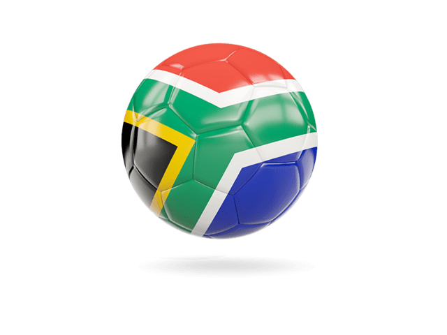 Glossy Soccer Ball. Illustration Of Flag Of South Africa