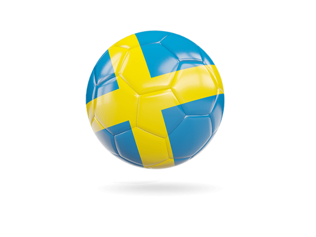 Glossy Soccer Ball. Illustration Of Flag Of Sweden