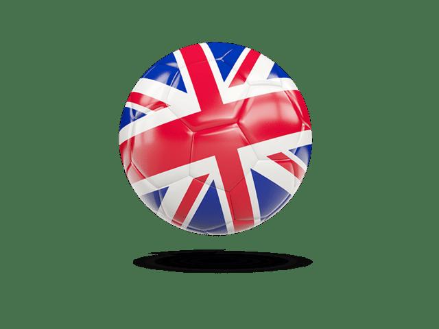 Glossy Soccer Ball. Illustration Of Flag Of United Kingdom