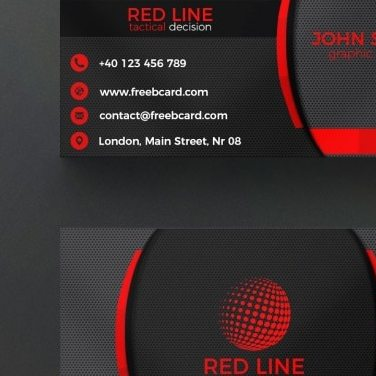 Grabs Full Pixels » Cards PSD   3 800 free PSD files Corporate red and black business card