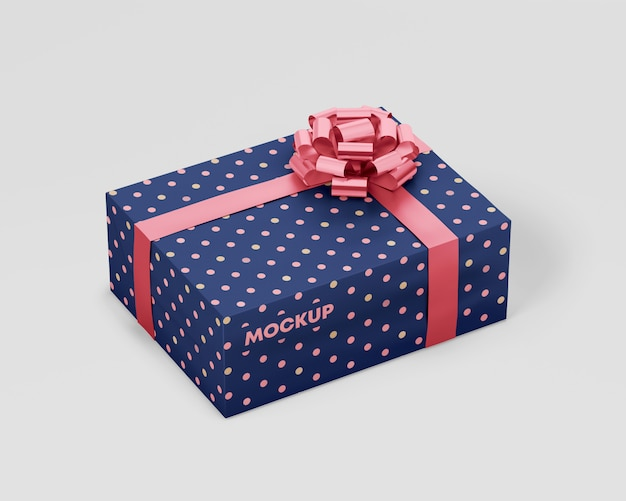 Download Pink gift box mock up PSD file | Free Download