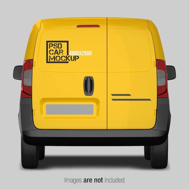 Download Van Logo Mockup Free Yellow Images