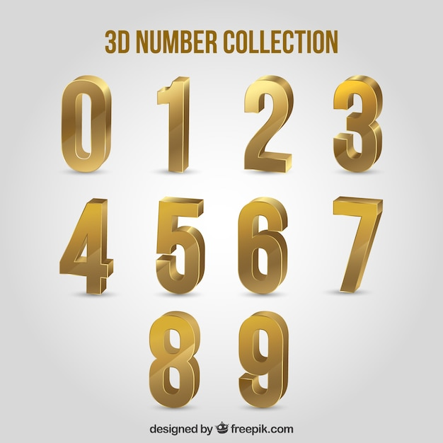 Download Free 3d number collection SVG DXF EPS PNG - Free SVG Cut ...