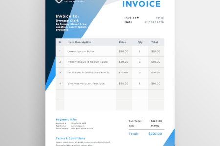 Quotation Vectors  Photos and PSD files   Free Download Abstract geometric invoice template design
