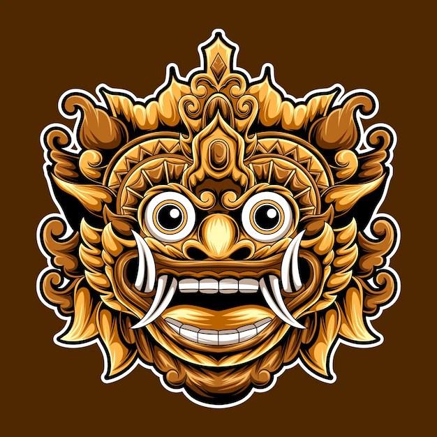 Premium Vector Bali Barong Indonesian Culture Illustration