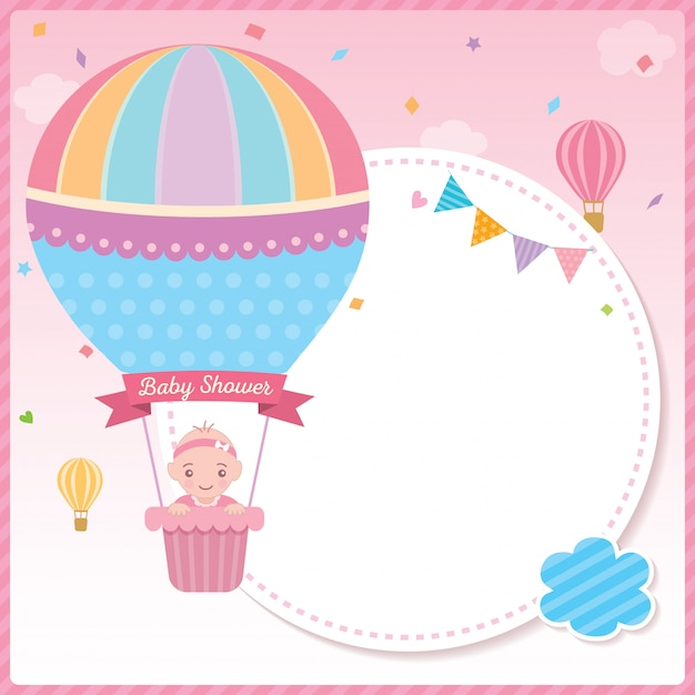 Free Vector Hot Air Balloon Birthday Invitation