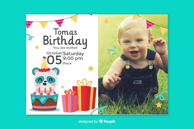 baby birthday invitation card images