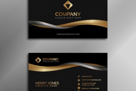Business Card Vectors  Photos and PSD files   Free Download Black and gold business card
