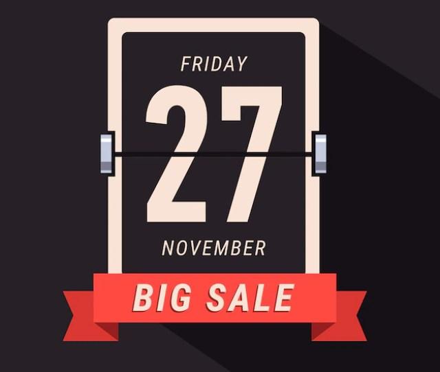 Black Friday Sale Banner Flipping Calendar Page