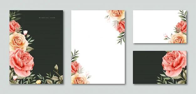 wedding rsvp card template