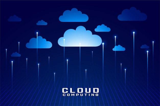 Cloud technology digital computing futuristic design