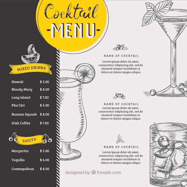 Cocktail Menu Vectors Photos And Psd Files Free Download