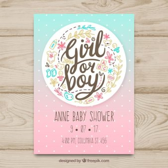 Creative Baby Shower Card Template