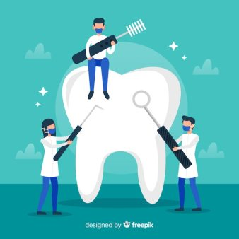 tooth background cleaning