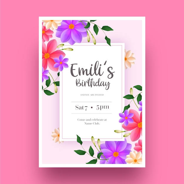 elegant birthday invite images free