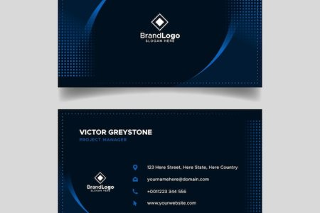 Business Card Vectors  Photos and PSD files   Free Download Elegant dark business card template design