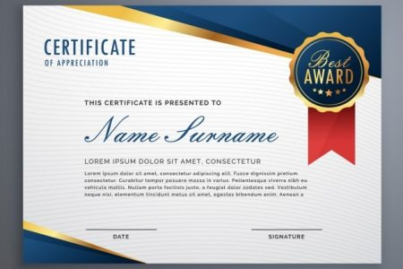 Certificate Of Recognition Vectors  Photos and PSD files   Free Download Elegant diploma with seal